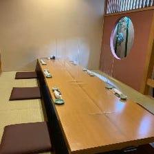 アクリル板を完備した個室