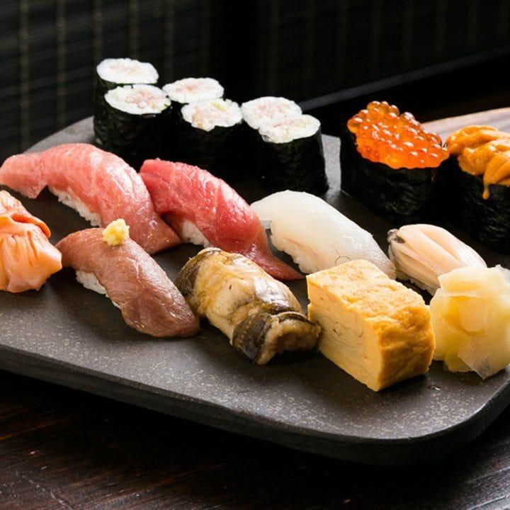 その日の鮮魚で造る本格握り鮨