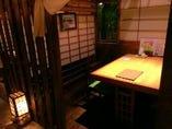半個室のテーブル席/2~4名様