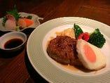 選べるメイン料理「橙橙流ハンバーグ」四季の小懐石2,160円