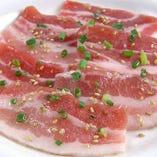 豚カルビ(塩・味噌・辛味噌・バジル焼・ゆず胡椒風味)