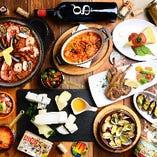 豪華な食材を使ったエッジの人気メニューは勿論、料理長、そしてお店の想いを詰め込んだコース料理。