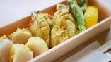 広島産 牡蠣と北海道産ホタテの天ぷら