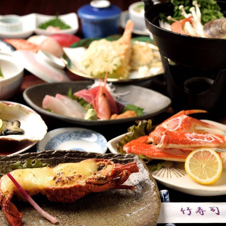 新鮮な魚介が味わえる多彩なコース!