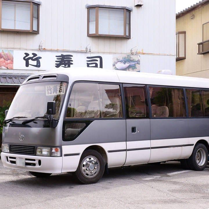 うれしい送迎バス完備でご宴会も楽々