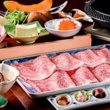 【すき焼きコース】伊万里牛A5ランク「サーロイン」と季節の海鮮鉢など全7品
