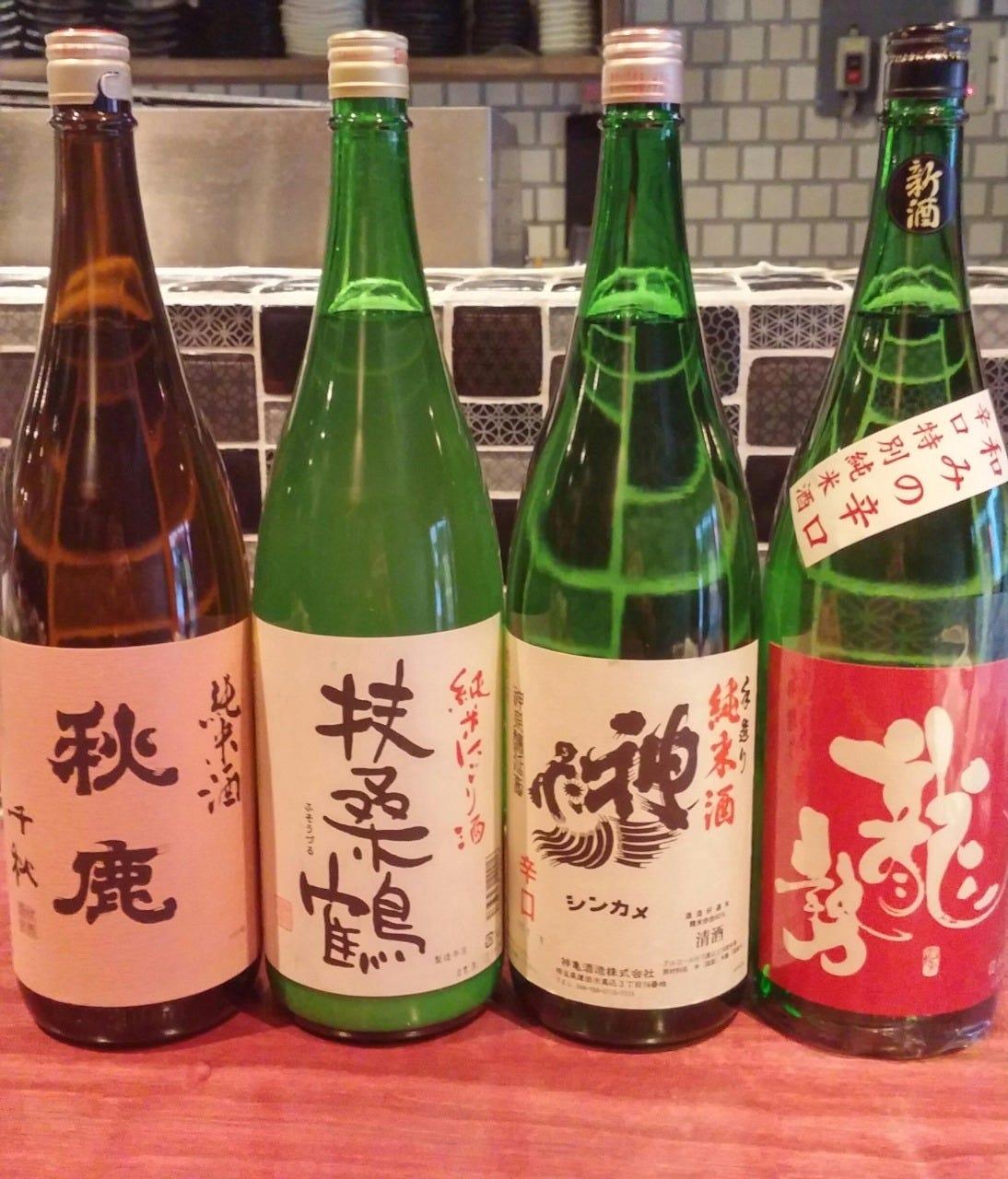 ◇ 厳選の日本酒揃えてます ◇