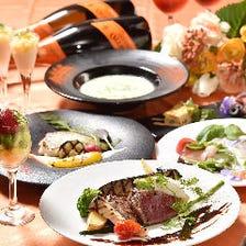 【デートに】鮮魚のヴァプール×黒毛和牛ネックの赤ワイン煮込み《Merryコース》