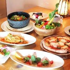 オープンキッチンの本格イタリアン