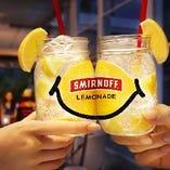 当店のレモンサワーはスミノフレモネード!