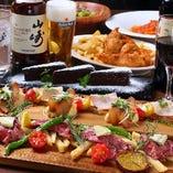 特別な日には、お肉食べ比べを堪能できる『プラチナコース』