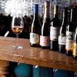 自然派ワインを中心にソムリエ厳選のラインナップ