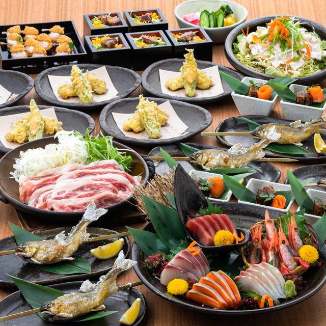 夏のご宴会…おすすめ『幸(さち)コース』厳選料理=全9品!!