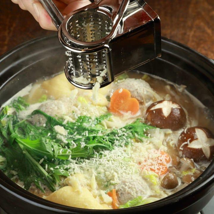 フォアグラつくねのチーズ味噌鍋