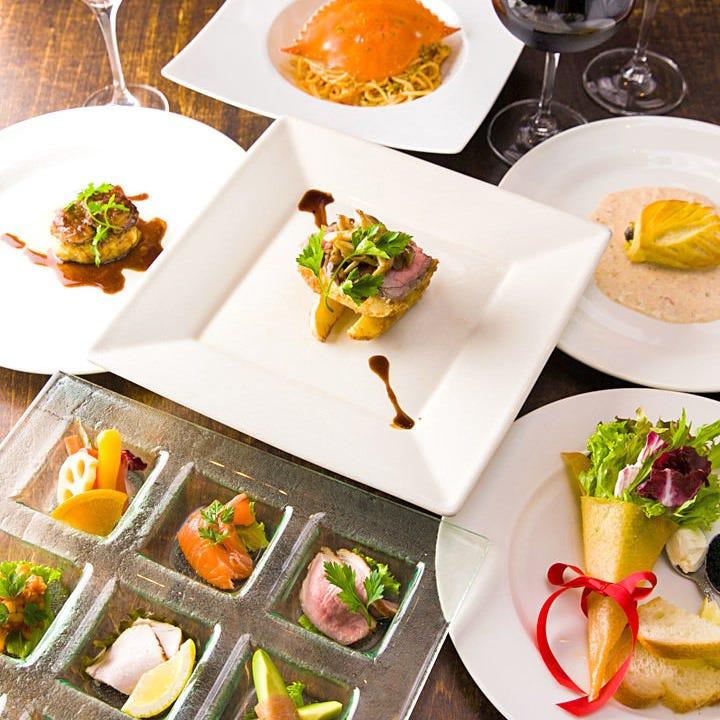〈全7品〉世界三大珍味を優雅に楽しむ『プレミアムフォアグラステーキコース』歓送迎会 宴会 飲み会 女子会