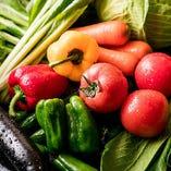 [国産野菜] 食材にこだわり野菜は全て国産!丁寧に仕込むお料理