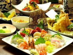 旬食材を食す120分飲放4000円コース【10名以上で1名無料】