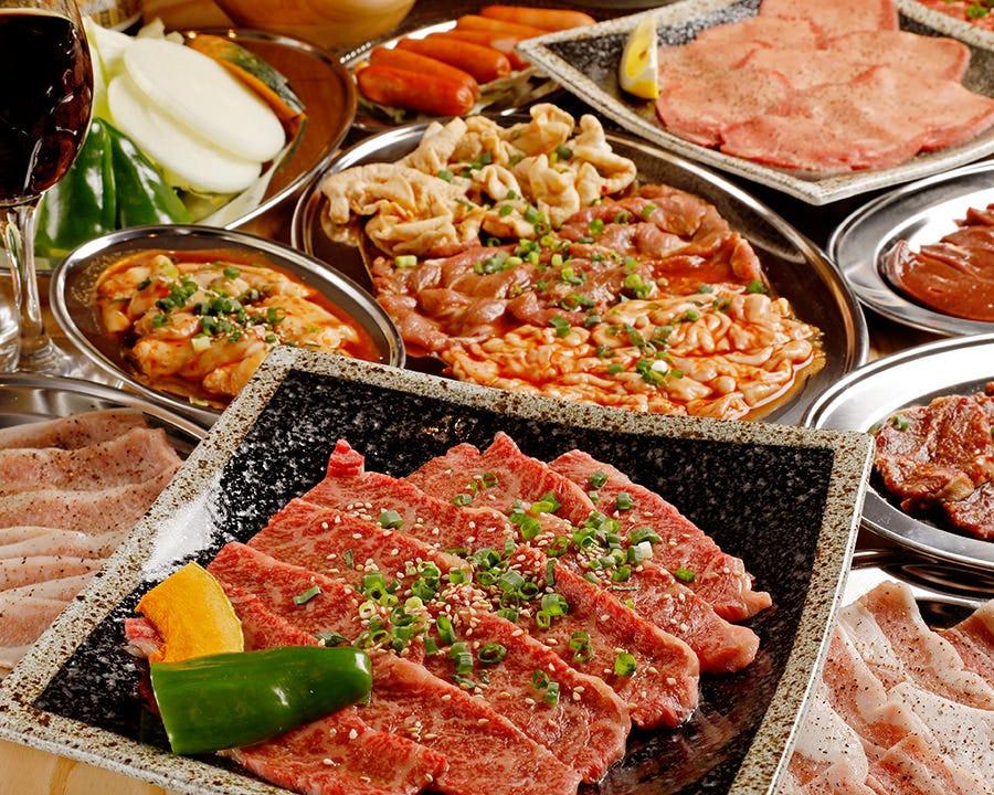 【2時間飲み放題付】和牛焼肉ホルモンコース<全15品>4,500円(税込)|宴会 飲み会