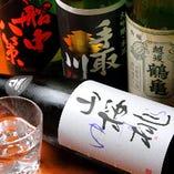 産地・銘柄などにこだわらず、味わい豊かな美酒や、当店の食事にあう食中酒など取り揃えております