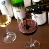 フランス産を中心にグラスワインをご用意