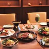 お茶をアクセントに使った創作和食のお料理をご賞味ください。