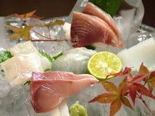 明石海峡でとれた新鮮な魚介