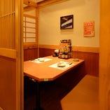 京都デートにオススメ! 大人気!1階2名様テーブル個室