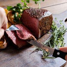 へルシーで肉厚の牛ハラミのステーキ