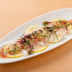 愛媛産 新鮮真鯛のカルパッチョ