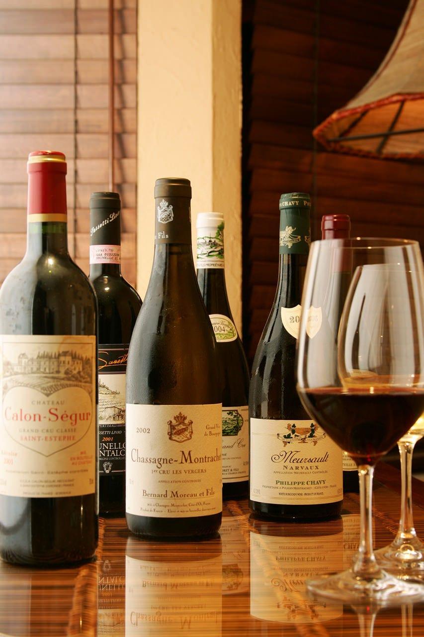 6種類ワイン  マリアージュプラン