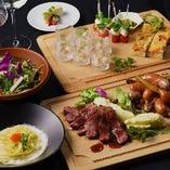 宴会に◎イタリアンをベースにした創作料理を堪能できるコース