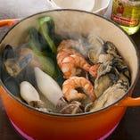 採れたてのお野菜がたっぷり入った 魚介類たっぷりポトフ