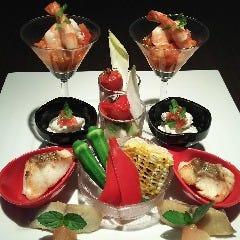 季節の魚介類とお野菜の盛り合わせ   2人前