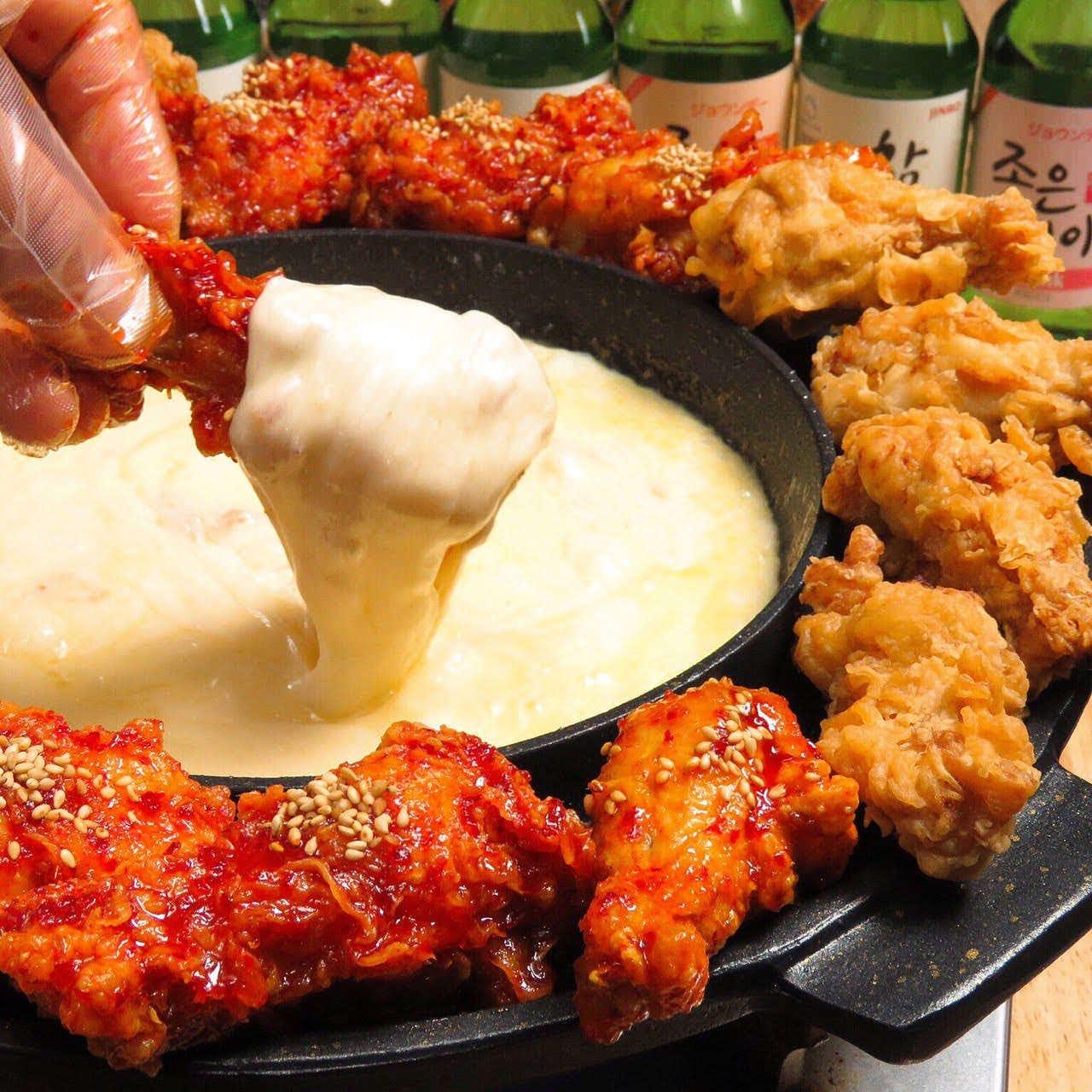 韓国で大人気のチーズチキン!