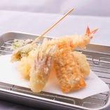天ぷら単品1個80円より