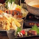 海鮮寄せ鍋コース 飲放付 ¥4200