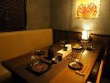 プライベート感もあり、接待・会食に最適な完全個室(最大2~6名様)