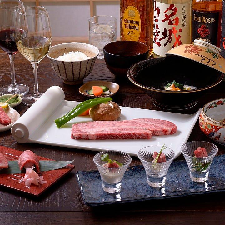 飛騨牛ステーキ宴会コース<8品+90分飲み放題>9,500円(税抜)