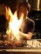 名古屋コーチンの炭火焼… 豪快に焼き上げます。