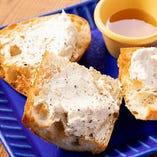 ハニーナッツとチーズのディップ
