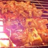 串揚げだけでなく、串焼きも人気♪一本一本丁寧に焼いてます!