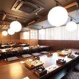 【3階】接待やお祝いの席に相応しい掘りごたつ席完全個室(~6名様×6部屋)