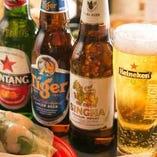 """""""アジアのビール""""★ランチビールもございます。"""