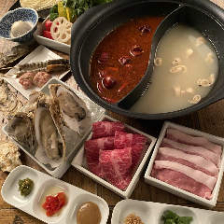 選べるスープの火鍋コース!