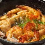 海老のガーリックオイル煮