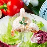 海老と挽肉のレタス包み