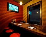テーブル個室は最大8名様迄 銀座コリドー街を窓から眺めパーティも◎