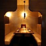 優雅な大人の半個室テーブル席(2~4名様)