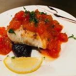 旬魚と茄子のポワレ