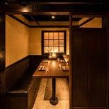 完全個室2名様よりご用意可能!ゆったりとお食事をお楽しみください。